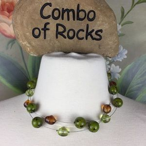 TopFrog Designs Glass Bead 2 Wire Stand Necklace